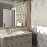 transitionnel, design, décoration, décor, gris, argent, platine, vanité sur mesure