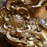 Cadre avant restauration: on recrée les détails manquants