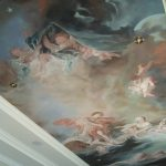 traditionnel, design, décoration, décor, chambre, plafond, baroque, ciel, dieux, déesses, nymphes, naïades, apollon, putti, nuages,François Boucher