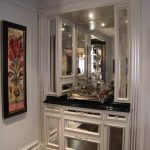 traditionnel, design, décoration, décor, feuille d'argent, bar, dorure, blanc, noir, miroirs