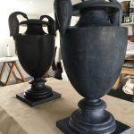 urne, vase, noir