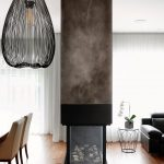 cheminée, faux fini, acier, contemporain, décor, design intérieur, moderne, métal, Fireplace, painted steel, interior design, contemporary, modern, metal, black, grey, white, brown